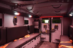 TAG BATT X Armored Truck Interior Bench Seats