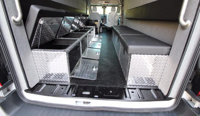 TAG Armored Protector Van Series Bench Seats Open Driver Side