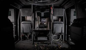 Interior of bulletproof Huron Kenworth T370 personnel carrier