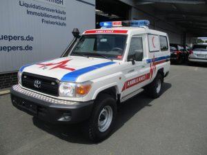 TAG 2015 Armored Toyota Land Cruiser 78 Ambulance Front Corner