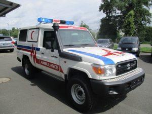 TAG 2015 Armored Toyota Land Cruiser 78 Ambulance White armored Toyota Land Cruiser 78 ambulance picture