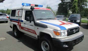 White armored Toyota Land Cruiser 78 ambulance picture