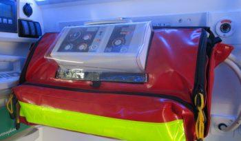 Interior of bulletproof Toyota Land Cruiser 78 ambulance