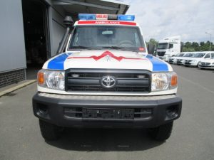 TAG 2015 Armored Toyota Land Cruiser 78 Ambulance Front View