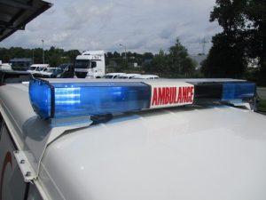 TAG Emergency lighting system on armored Toyota Land Cruiser 78 ambulance