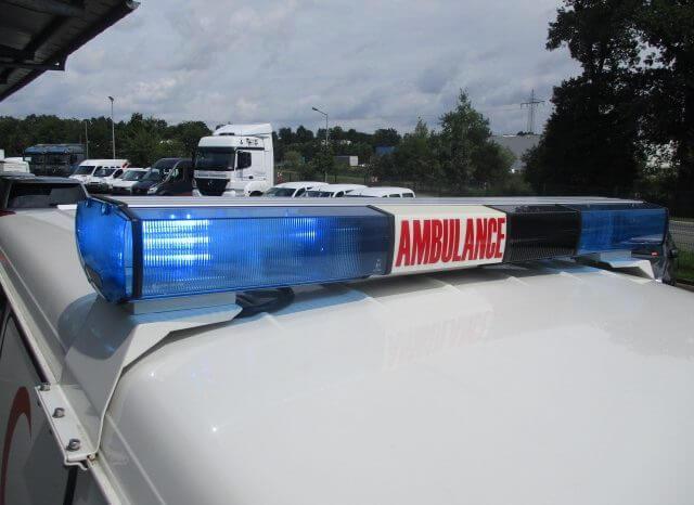 Emergency lighting system on armored Toyota Land Cruiser 78 ambulance