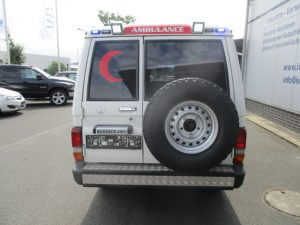 TAG 2015 Armored Toyota Land Cruiser 78 Ambulance Rear View