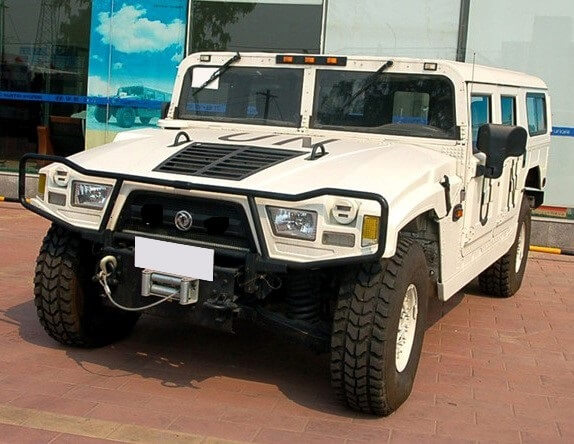 "Picture of armored Asian Humvee ""Warrior"" military vehicle"