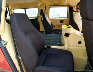"""TAG Armored Asian Hummer Warrior Interior of armored Asian Hummer """"Warrior"""" with bulletproof glass"""