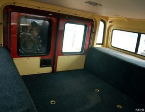 TAG Armored Asian Hummer Warrior Interior Cargo Space