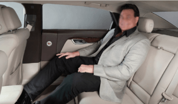 Picture of armored Cadillac XTS 7-inch stretch professional interior