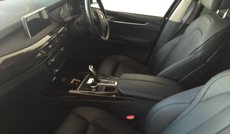 Interior of pre-owned 2015 bulletproof BMW X5 SUV