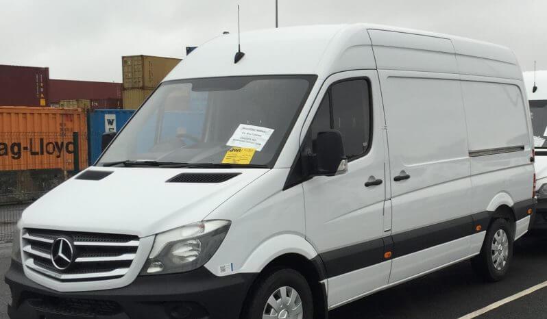 White armored Mercedes-Benz Sprinter cash-in-transit van picture