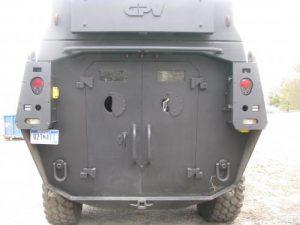 2009 Ford F550 Armored BATT S Rear View