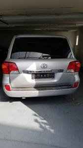 TAG 2016 Toyota Land Cruiser (TLC) 200 Silver Rear View