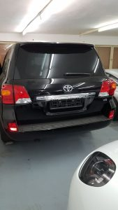 TAG 2014 Armored Toyota Land Cruiser (TLC) 200 Rear View