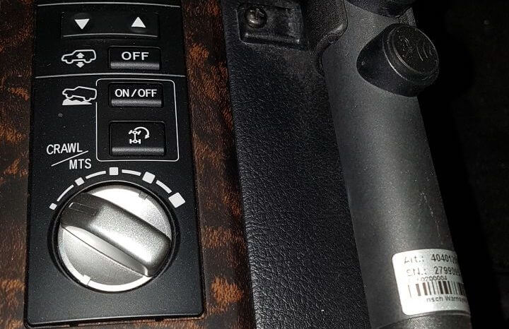 TAG 2014 Armored Toyota Land Cruiser (TLC) 200 Center Console Alteration