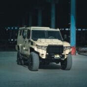 The Armored Group Introduces its Newest Vehicle, The Terrier LT-79 Front Corner