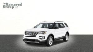 TAG Ford Explorer White Forward Corner Logo