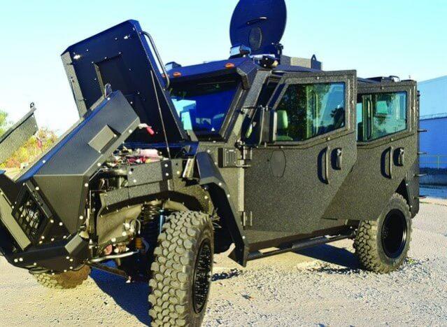 TAG Armored Trucks BATT X All Doors Open