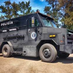 TAG Armored Truck Black Policia Police
