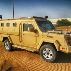 TAG Armored Truck Outdoors Sand