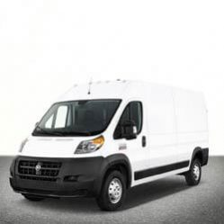 TAG Dodge Van White Front Corner