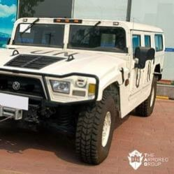 TAG Armored Truck Humvee Front Corner Outdoors