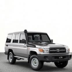TAG Toyota Land Cruiser Silver Front Corner