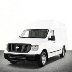 TAG Nissan Van White Front Corner