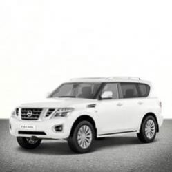TAG Nissan SUV White Front Corner
