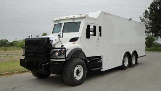 TAG Armored Truck White Front Corner