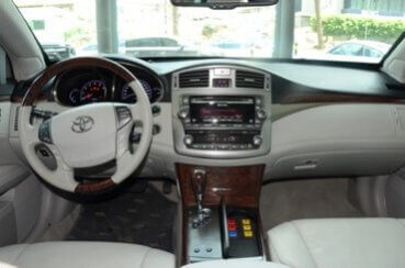 Armored Car 2012 Armored Toyota Avaion Center Console