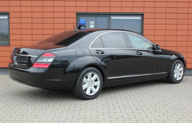 Armored Group 2009 Armored Mercedes-Benz S420 Rear Corner