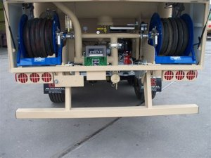 Armored Group Unarmored Water/Fuel Tank Trailers back semi trailer