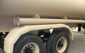 Armored Group Unarmored Water/Fuel Tank Trailers sideview tires